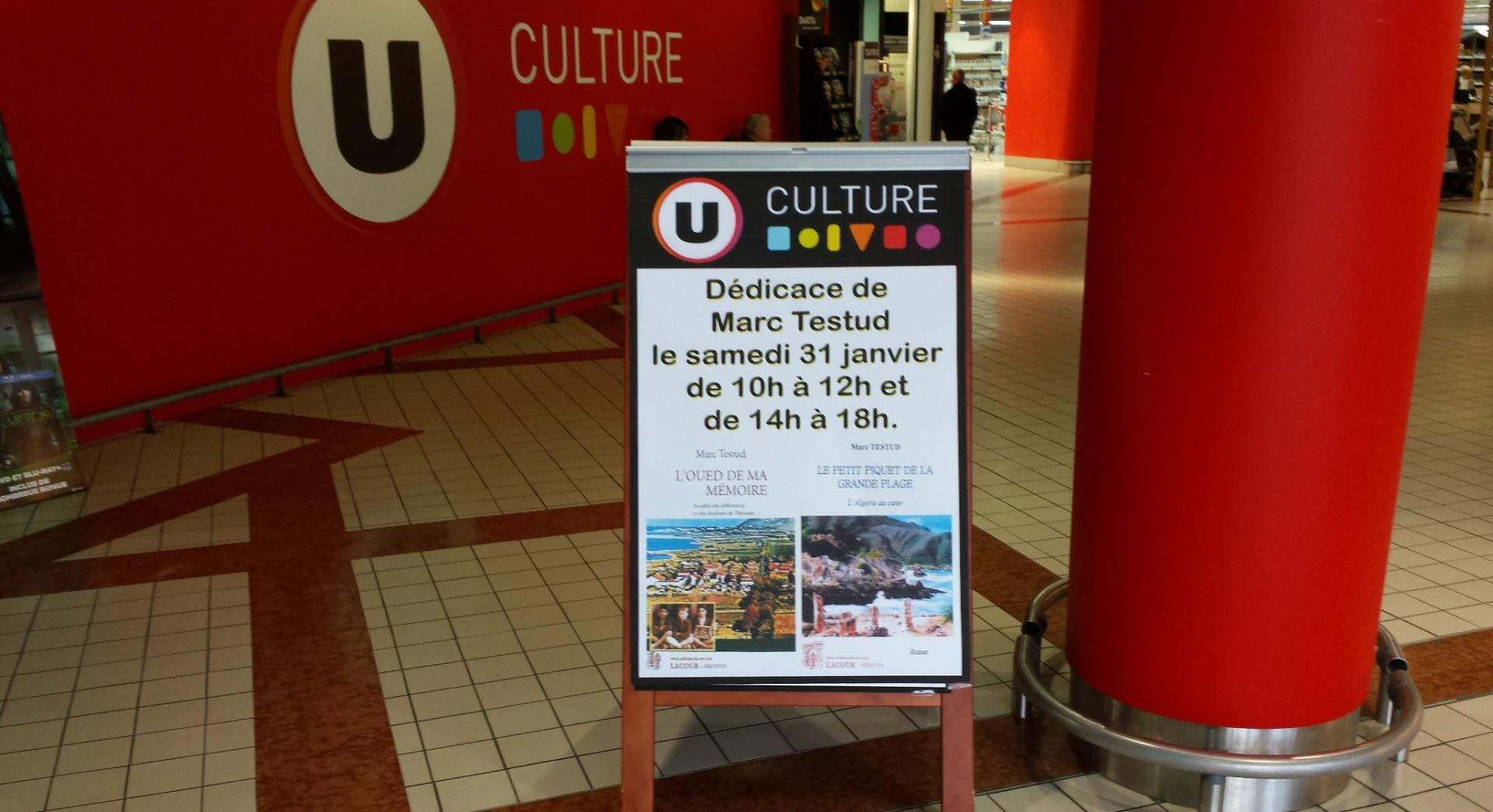 dédicace à Culture U de Gujan Mestras